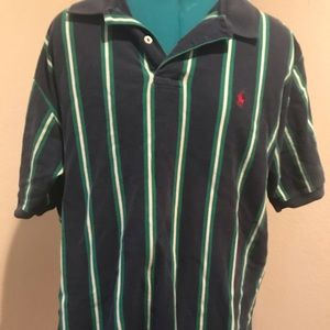 Vintage 90s Polo by Ralph Lauren shirt navy&green